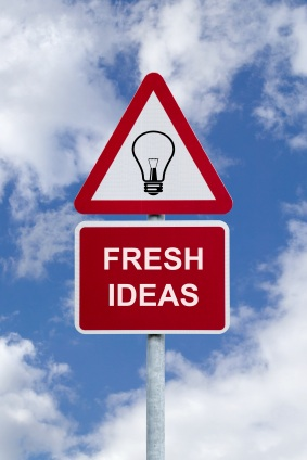 Fresh ideas sign in the sky