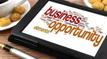 tablet displaying business opportunity