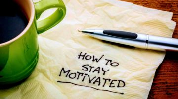 how to stay motivated napkin