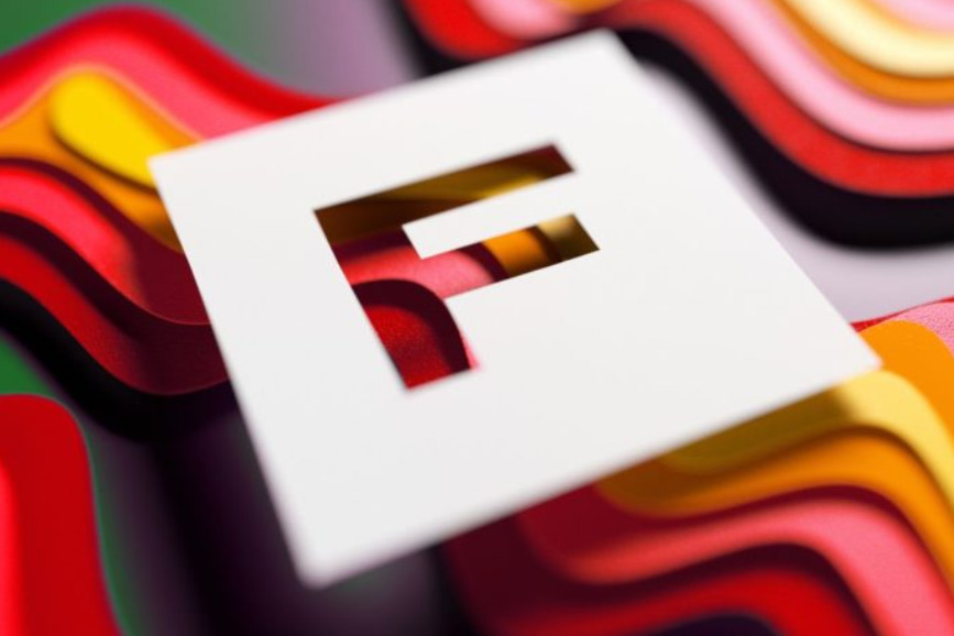 the letter f in white square